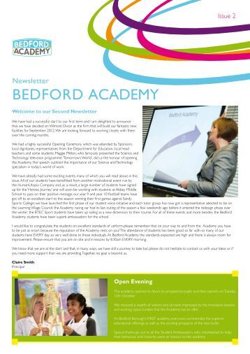 Newsletter Issue 02 - Bedford Academy