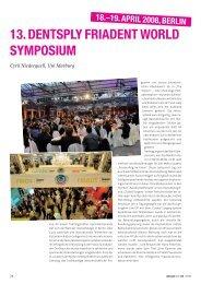 13. DENTSPLY Friadent World Symposium: 18.-19 ... - zahniportal.de