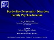 Family Psychoeducation - Borderline Personality Disorder
