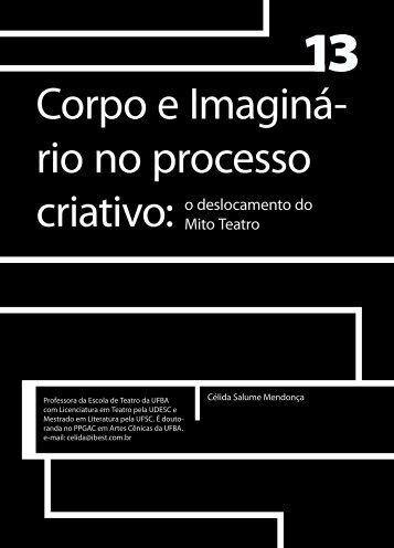 Corpo e Imaginá- rio no processo criativo: - Faculdade Social