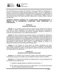 Criterios básicos internos de Clasificación, Desclasificación y ...