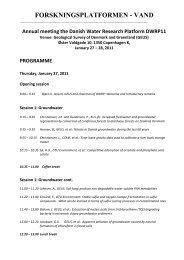 programme - Forskningsplatformen - Vand