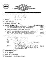 agenda regular meeting downey city planning ... - City of Downey