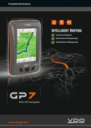 Bike GPS Navigator www.vdo-gp .com Produktinformation