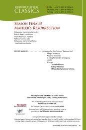 CLASSICS - Milwaukee Symphony Orchestra