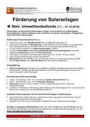 Förderung von Solaranlagen - Austria Solar