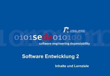 Inhalte und Lernziele - Software Engineering: Dependability