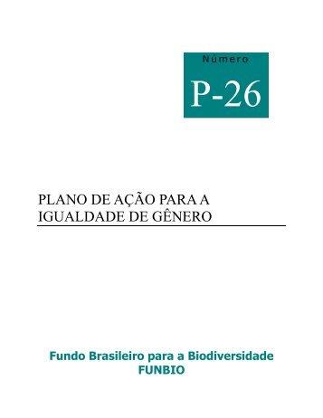 PLANO DE AÇÃO PARA A IGUALDADE DE GÊNERO - Funbio