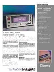 19050 Series Hipot Tester AC/DC/IR/SCAN - Chroma Systems ...