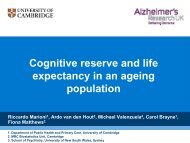 Cognitive reserve and life expectancy in an ageing population - Ined