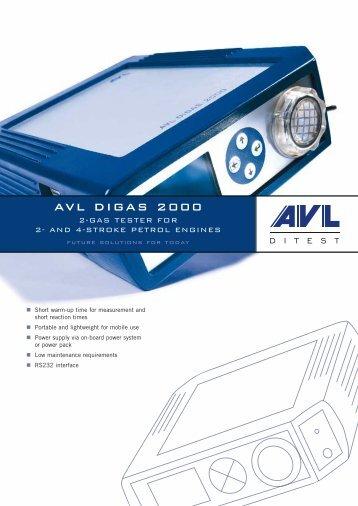 AVL DIGAS 2000 - AVL DiTEST