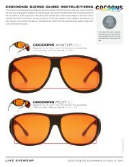 COCOONS SIZING GUIDE INSTRUCTIONS - Cocoons Eyewear