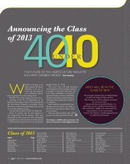 Announcing the Class of 2013 - Greenhouse Product News