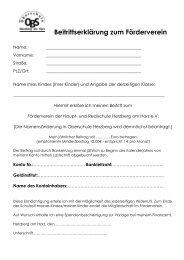 Beitrittserklärung zum Förderverein - Haupt- und Realschule Herzberg