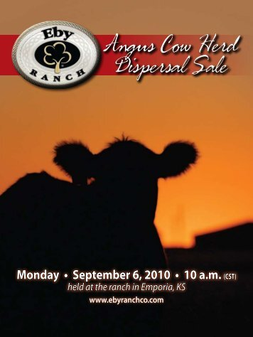 Angus Cow Herd Dispersal Sale Angus Cow Herd ... - Angus Journal