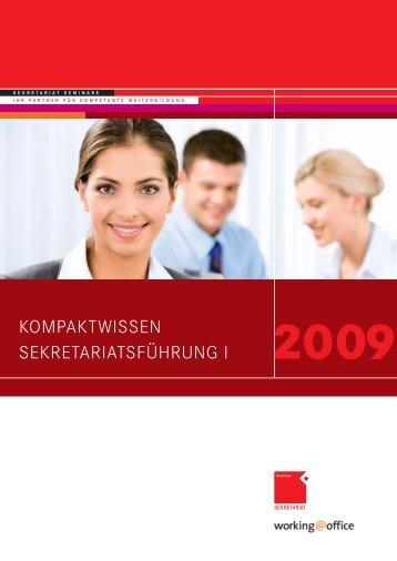 kompaktwissen sekretariatsführung i - OFFICE SEMINARE