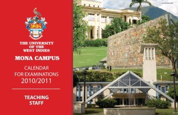 Calendar for Teaching Staff - Uwi.edu