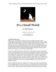 It's a Small World - Bill Herbst, astrologer