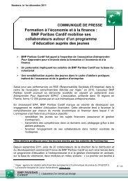 Formation à l'économie et à la finance : BNP Paribas Cardif mobilise ...