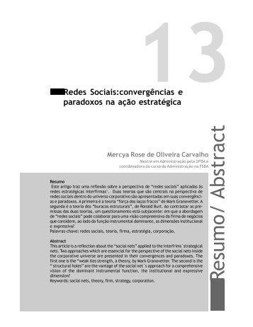 Resumo/ Abstract - Faculdade Social