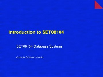 Introduction to SET08104