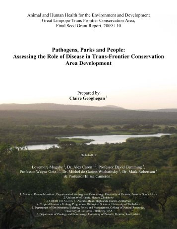 View/Download PDF of Final Report - Animal & Human Health for ...
