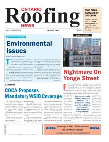 Ontario Roofing News - Spring 2006 - Perks Publications Inc.
