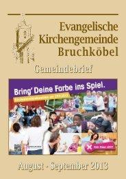 Gemeindebrief August - September 2013 - Evangelische Kirche ...