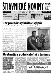 Štiavnické noviny 39 - Banská Štiavnica