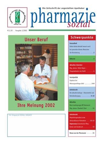 Ausgabe 2003/02 - VAAÖ