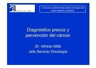 Prevención del cáncer y diagnóstico precoz. Dr. A. Millá