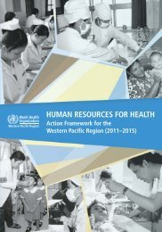 HRH Action Framework for the Western Pacific Region (2011-2015)
