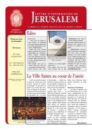 Télécharger le numero du fevrier 2011 - Patriarcat latin de Jérusalem
