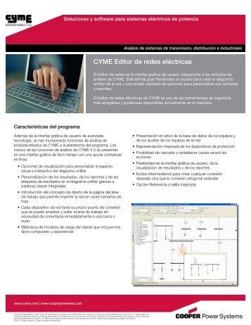 CYME Editor de redes eléctricas - Cyme International