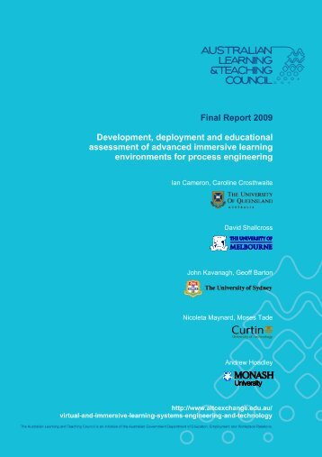 Cameron final report 2009 - Office for Learning and Teaching