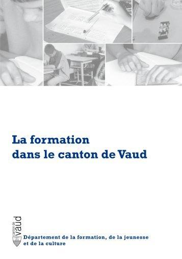 La formation dans le canton de Vaud - Telechargement.vd.ch ...