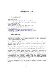CURRICULUM VITAE Personal Details - Seminar für ...