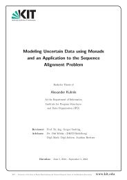 Modeling Uncertain Data using Monads and an ... - IPD Snelting - KIT