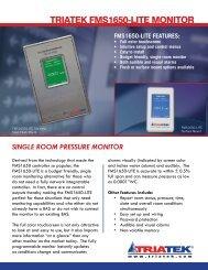 FMS-1650-LITE Single Room Pressure Monitor - Ingenuity IEQ