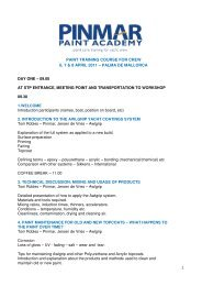 paint training course for crew 6, 7 & 8 april 2011 - Pinmar