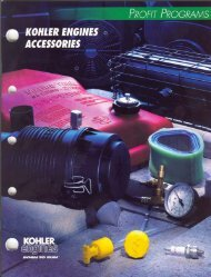 Kohler K Series Accessories - Small Engine Suppliers