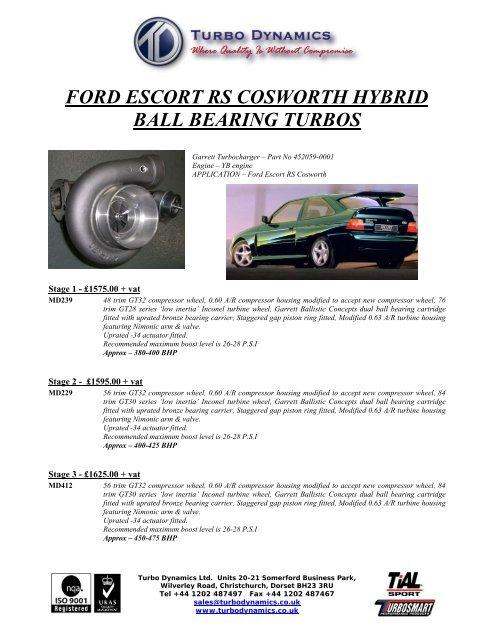 Ford Escort Cosworth Ball Bearing Nov2010 Turbo Dynamics