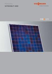 VITOVOLT 200 Photovoltaic - Hevac  Distribution Ltd