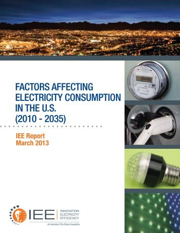 factors affecting electricity consumption in the us - Edison Foundation