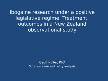 Ibogaine research under a positive legislative ... - Puzzle Piece!