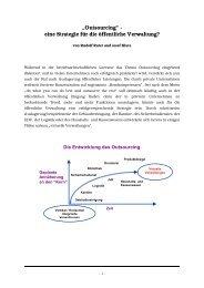 """""""Outsourcing"""" - eine Strategie für die öffentliche ... - Rudolf X. Ruter"""