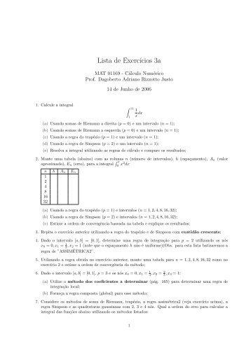 Lista A de Exercícios - Chasqueweb.ufrgs.br