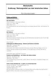 Medienkoffer Ernährung / Nahrungsmittel aus dem heimischen Anbau