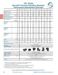 Stober ServoFit PK Series specifications sheet - Womack Machine ...