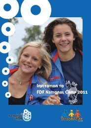 Invitation to FDF National Camp 2011 - Leder - FDF